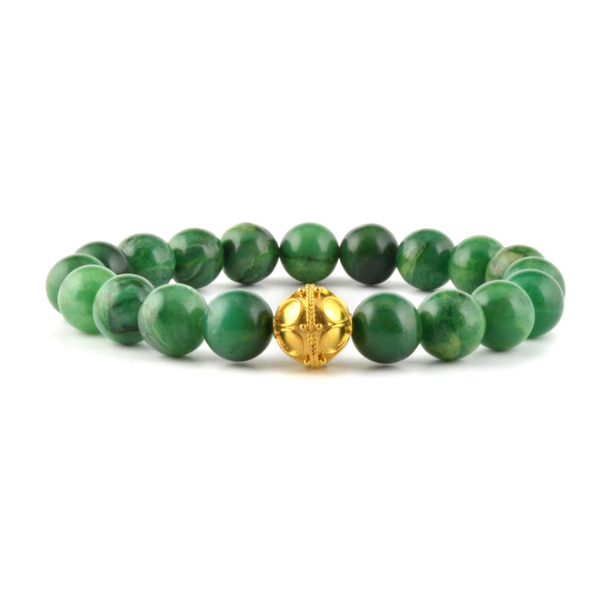 Armando Medium Africa Jade With Gold