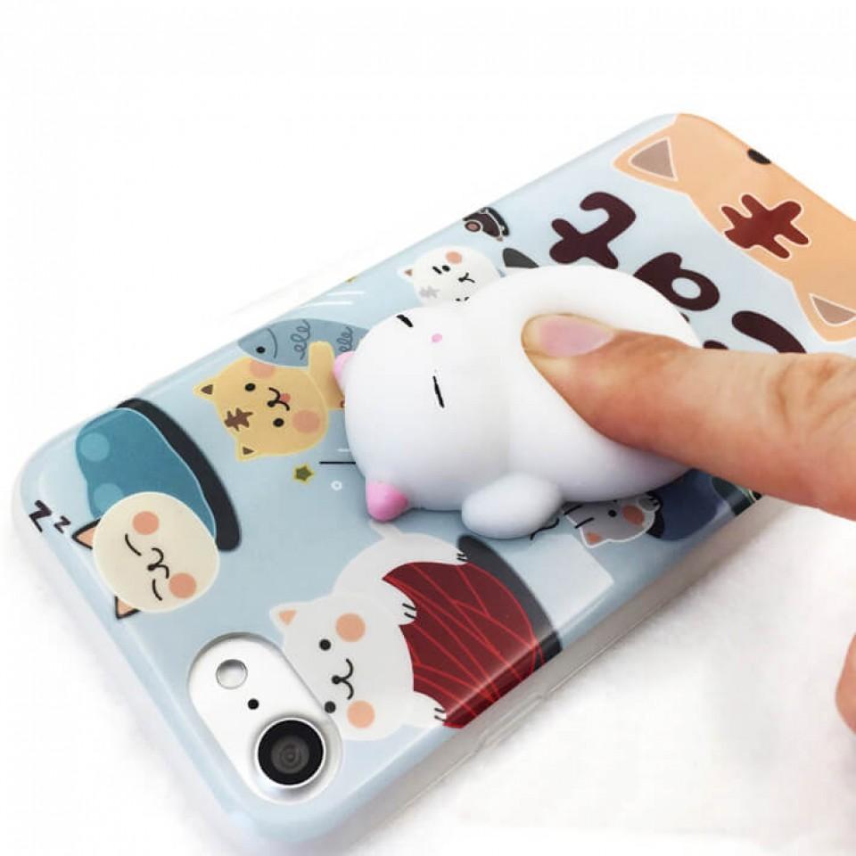 Squishy Cat Iphone X Case : Silicon Squishy Cat iPhone Case