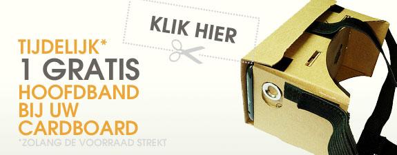 Klik hier en ontvang gratis hoofdband bij uw cardboard
